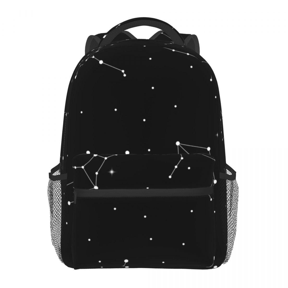 الفلكية كوكبة من علامات زودياك عادية Daypack السفر حقيبة مدرسية مع جيوب للنساء كلية