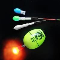 2pcs plastic fish float light float tail light solid color led light color carp fishing tackle accessories