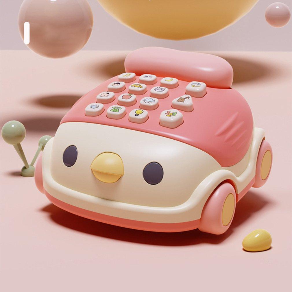 Early Childhood Education Toys Multifunctional Chicken Phone Car Game Teaching Music Baby Fun Toy Phone недорого
