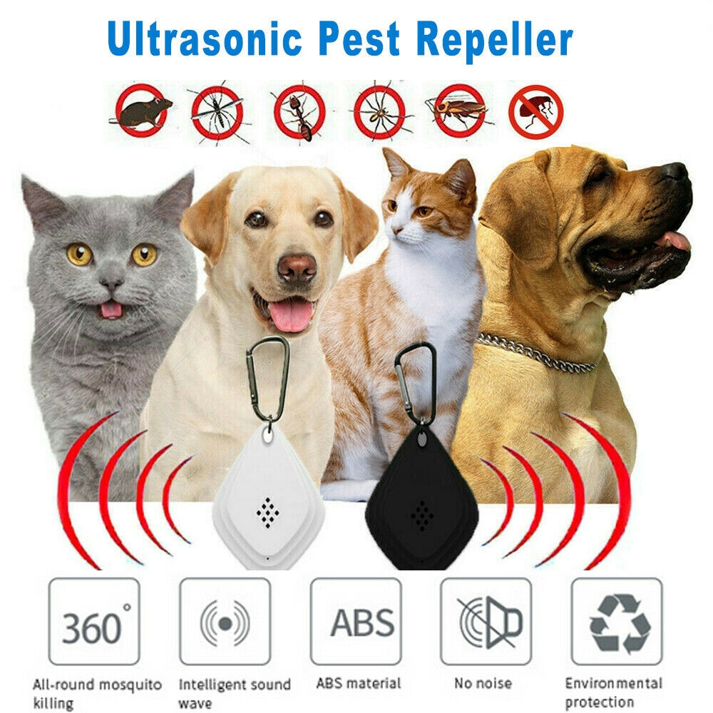 Flealess Ultrasonic Flea Tick Repeller Portable Lightweight Pest Animal Repeller USB Charge Ultrasonic Outdoor Insect Repellent