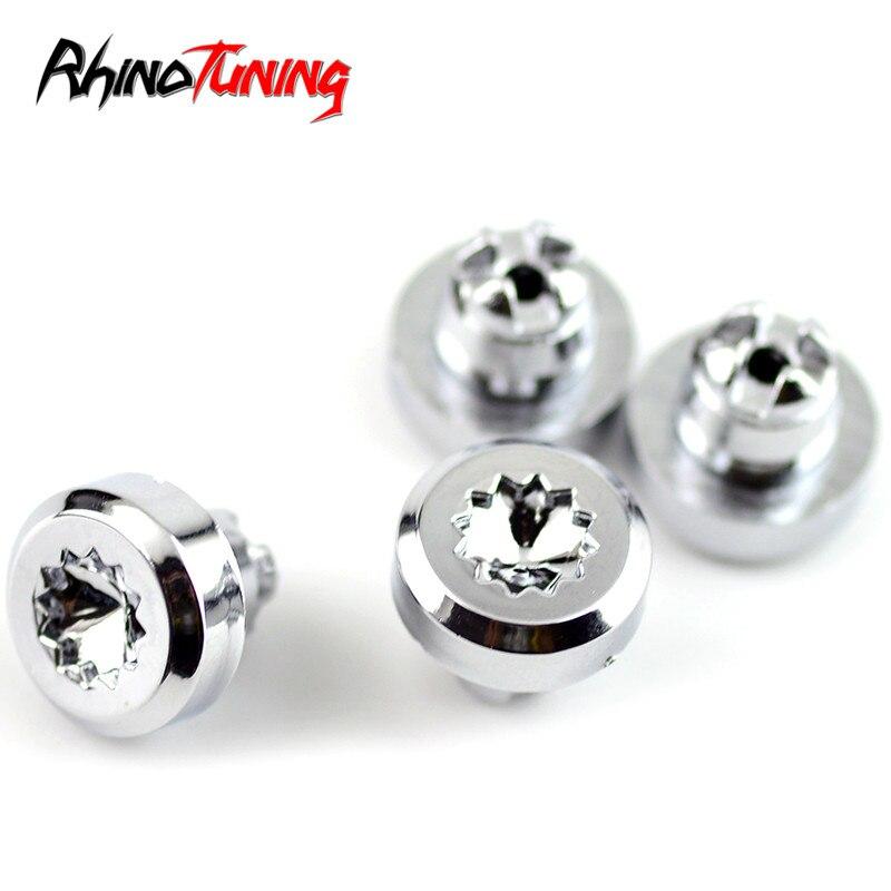 100pcs Chrome Silver Plastic Wheel Rivets Nuts Rim Lip Replacement Alloy Studs J2
