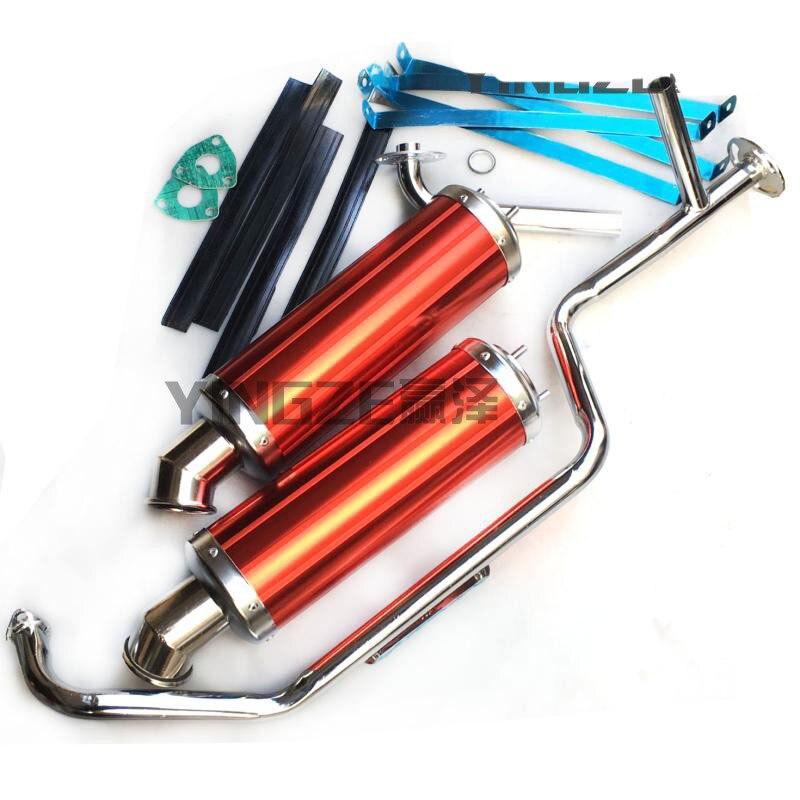 Gy6 150cc ir kart karting atv utv buggy gy6 150cc escape silenciador tubos