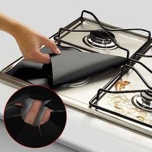 4 шт. многоразовая фольгированная газовая плита верхняя защита горелок крышка вкладыша для очистки поверхности муравьиная масляная Подушка кухонные инструменты