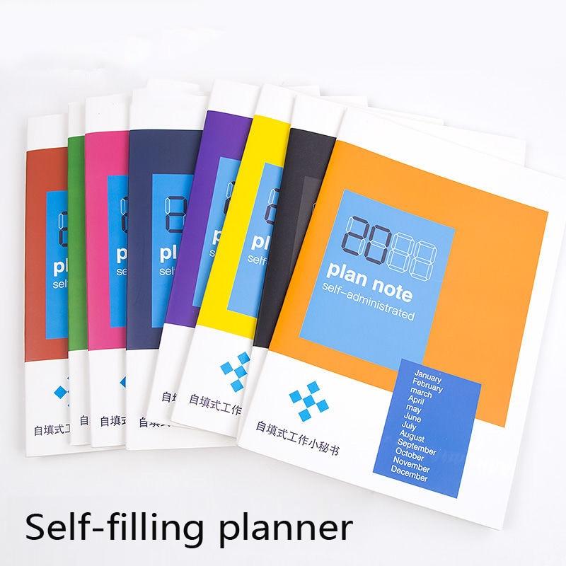 A5 B5 diario de 365 12 meses Agenda de planificación autollena Agenda de libro planificador chino 2019 suministros de oficina personalizar Logo C8 D10