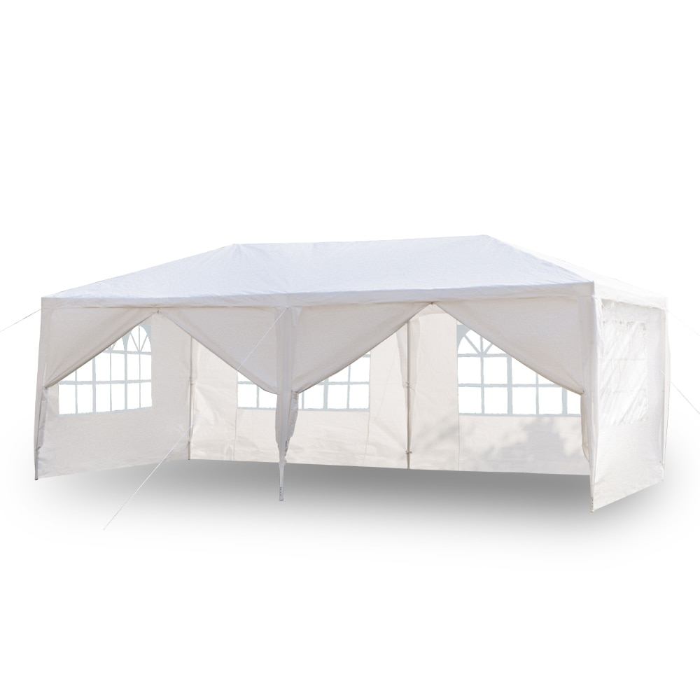 3 x 6m Four/Six Sides Waterproof Tent with Spiral Tubes  Wedding Tent Outdoor Gazebo Heavy Duty Pavilion Event US Warehouse