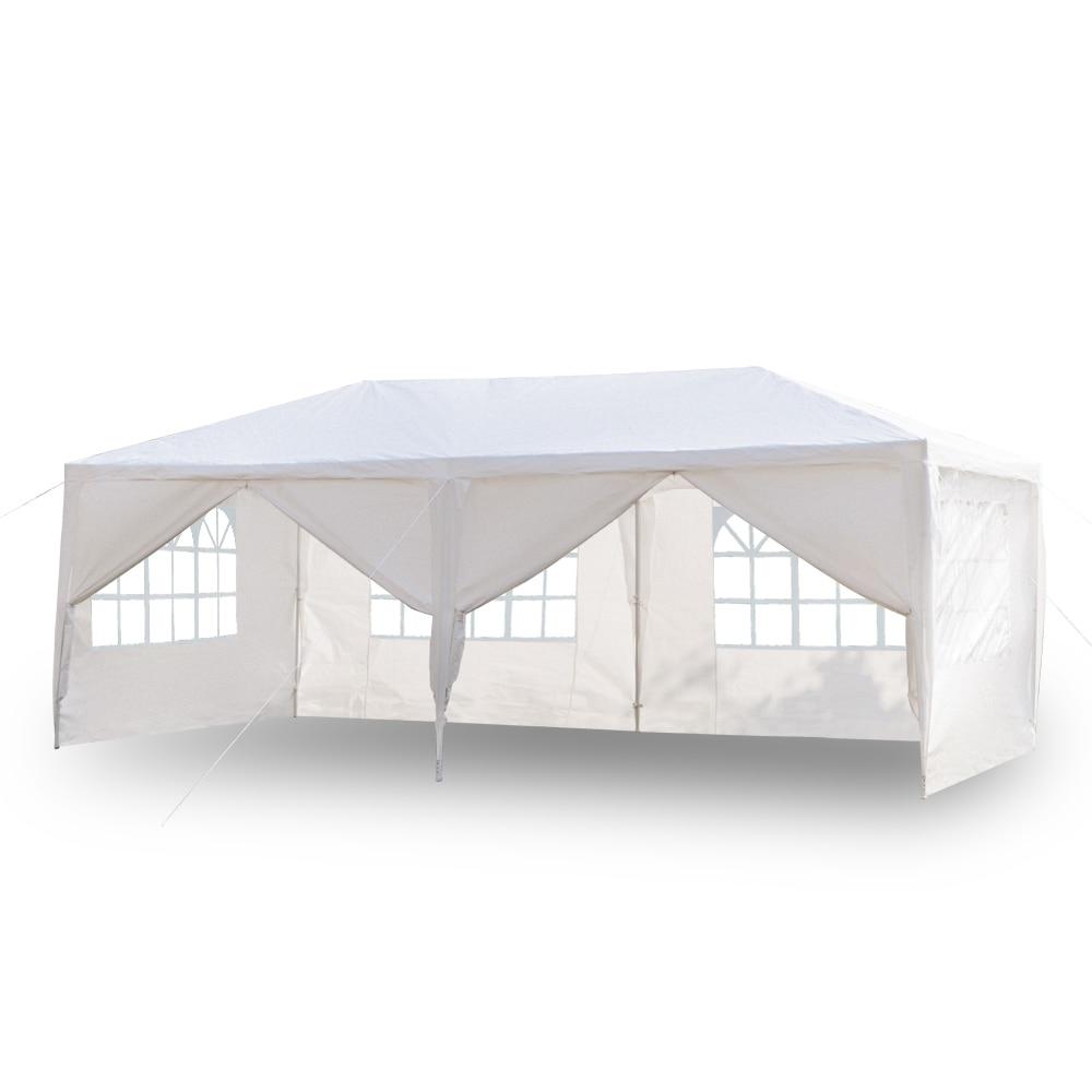 3x6 متر أربعة/ستة الجانبين خيمة مقاومة للماء مع أنابيب دوامة خيمة الزفاف في الهواء الطلق أكشاك الثقيلة جناح الحدث الولايات المتحدة مستودع