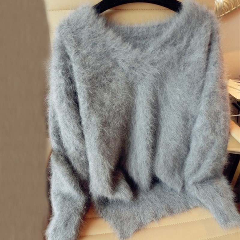 New Mink Cashmere Sweater Ladies Cashmere Coat Pure Mink Multiple Colors Free Shipping V-neck Sweater