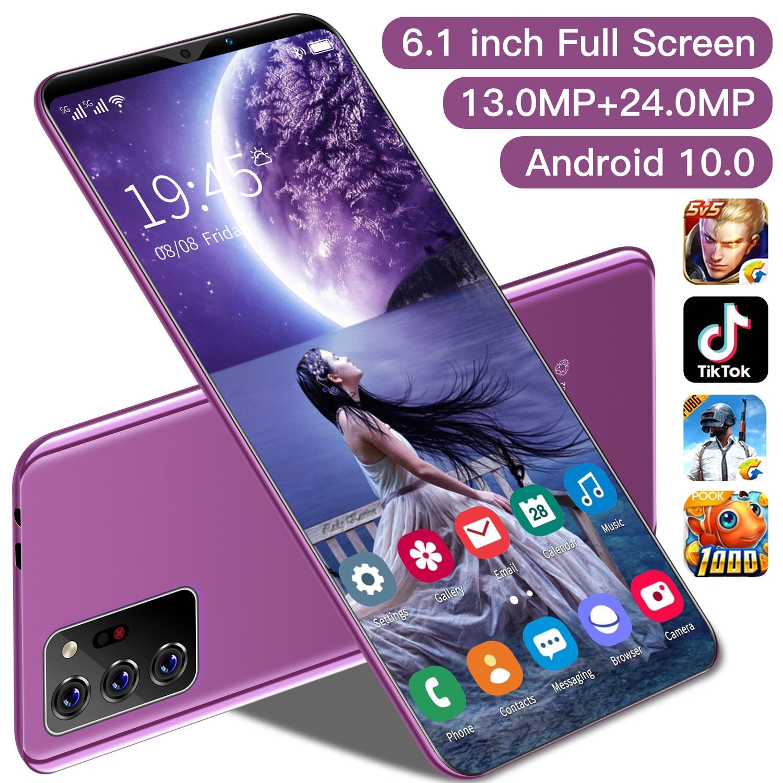 TEMK Note30 Plus Smart Phone 2021 New 6.1 Inch Full Screen Andriod 10 Cellphones 6+128GB 4800mAh Face ID 10 Core 13+24MP Celular