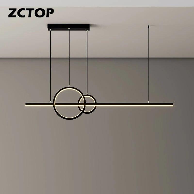 Современные светодиодный подвесные светильники для столовой, гостиной, кухни, офиса, потолочные люстры, Декор для дома, комнатная Подвесная...