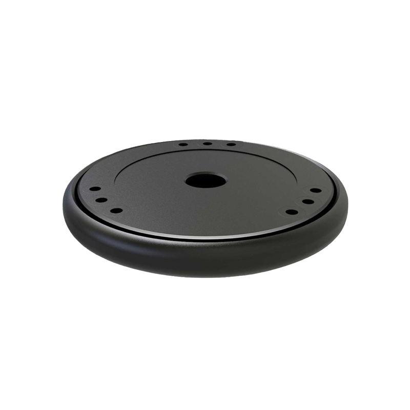 Plataforma de isolamento de som, plataforma de amortecedor recuperação para apple homepod amazon echo google home estabilizador riser base (preto))