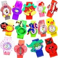 1 pcs duck chicken shape children watches kids wrist quartz watch silicone strap cute cartoon style fashion baby birthday gift