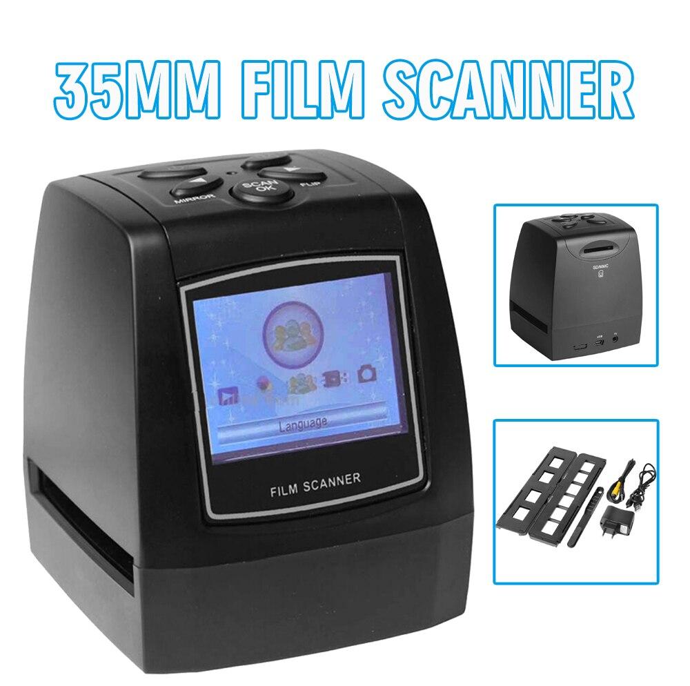 Mayitr 1 قطعة عالية الجودة السلبية فيلم الماسح الضوئي 35 مللي متر 135 مللي متر الشريحة فيلم محول مع شاشة LCD 2.4 بوصة