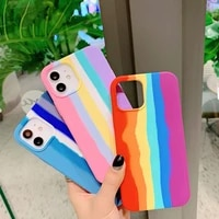 best quality shockproof silicone case for iphone 11 x xr xs max case 12 11 pro max 8 7 6s plus se liquid silicone back cover