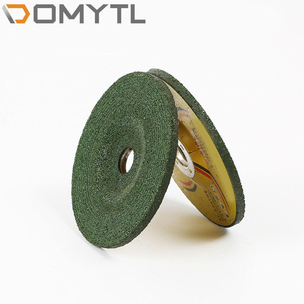 Lâmina de Corte Inoxidável Metal Resina Dupla Malha Ângulo Moedor Ultra-fino 100*6*16mm Moagem Roda Fatia 5 Pçs Aço