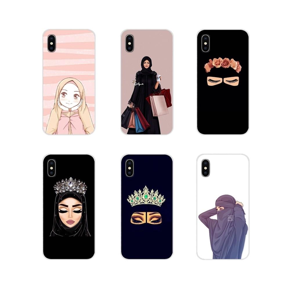 For Apple iPhone X XR XS 11 12Pro MAX 4S 5S 5C SE 2020 6S 7 8 Plus ipod 5 6 Soft TPU Covers Muslim I