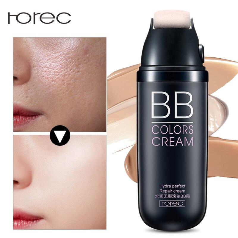 ROREC Fundación BB crema luz crema hidratante Crema de Cara de blanqueamiento corrector bloque de Sun perfecto cubierta maquillaje cosméticos hidratantes