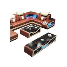 Table basse basse de salon стол журнальный столик meuble tv meubles tv collectivités support de moniteur Nordique moderne en cuir et verre