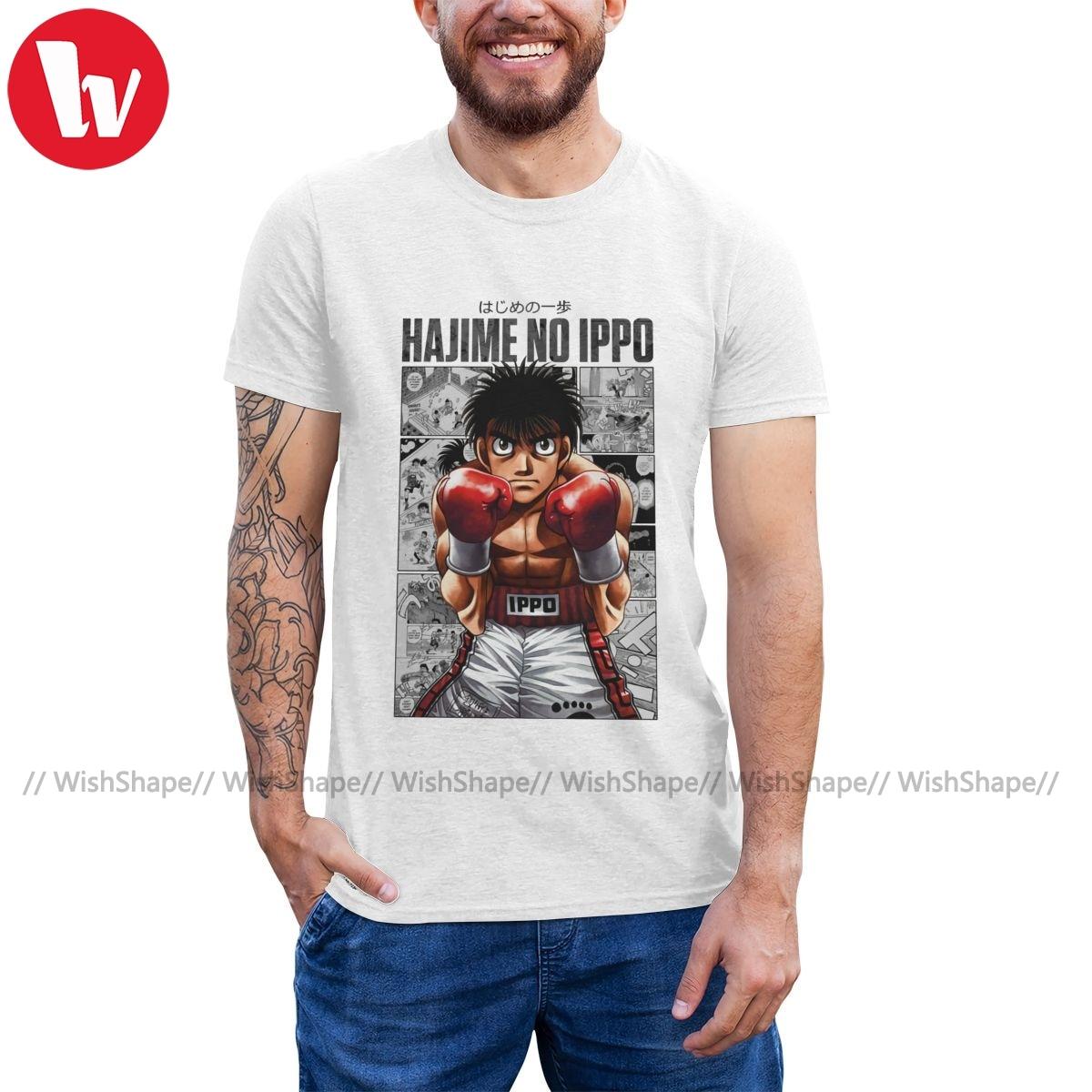 Hajime nenhum ippo t camisa mais forte boxer ippo camiseta engraçado praia camiseta 100 por cento algodão impresso tshirt