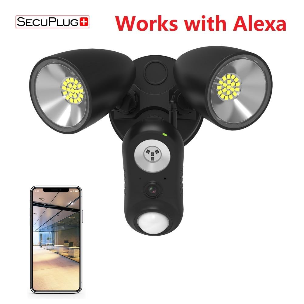 Proyector de seguridad FREECAM AI, cámara de alarma de seguridad HD activada por movimiento, color negro