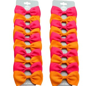 20PCS/Lot Lovely Orange and Rose Hairpins Grosgrain Ribbon Bows Clips 2020 Korean Creativity Hair Accessories For Baby Girls NEW