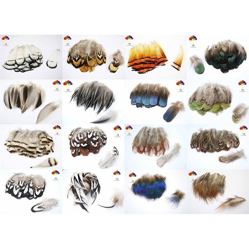 10 Uds. 100% Flake de plumas de faisán natural premium 2-4 pulgadas 5-10cm hermoso para Diy disfraz máscara tocado