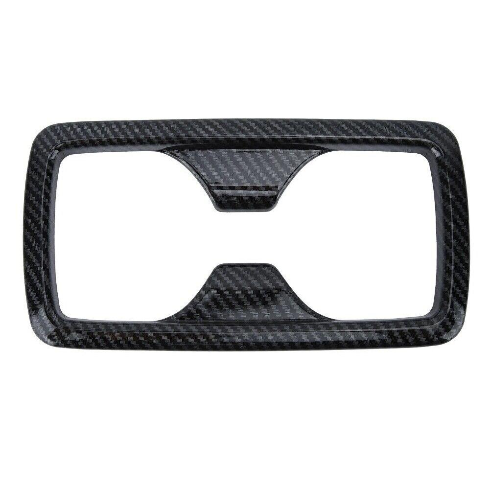 Para toyota rav4 2019 interior do carro traseiro suporte de copo água quadro guarnição fibra carbono abs decoração adesivo capa auto estilo