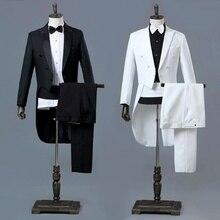 Pic revers tailleur Costume et pantalon ensemble robe formelle mariage smoking veste bal Costume tenue pour hommes 903-A156