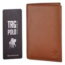 TRG POLO 39364 TAN MEN'S WALLET GENUINE LEATHER