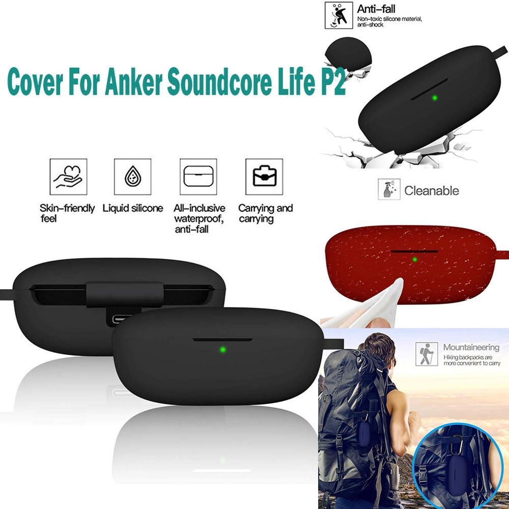 Funda protectora de silicona anticaída para auriculares Anker Soundcore Life-P2 auriculares Bluetooth vida protectora P2 #302