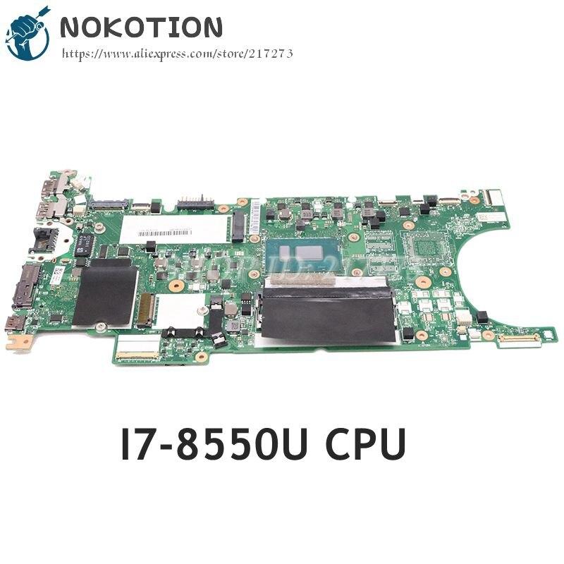 NOKOTION 01LV606 01YU124 01LV607 02HL820 لينوفو ثينك باد T480S اللوحة الأم لأجهزة الكمبيوتر المحمول SR3LC i7-8550U وحدة المعالجة المركزية 8G NM-B471 اللوحة الرئيسية