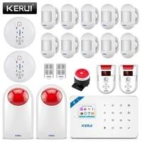 KERUI     systeme dalarme de securite domestique sans fil W18  controle par application LCD GSM SMS  anti-cambriolage