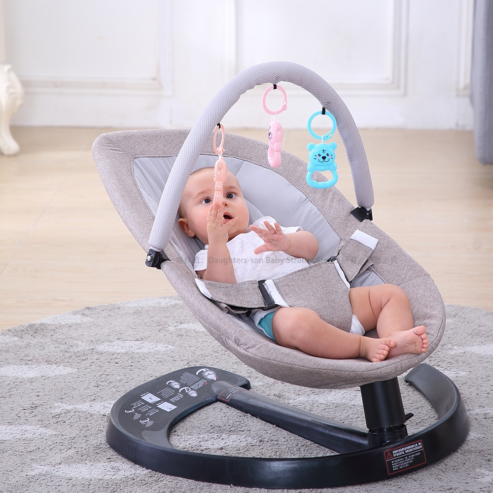 0-3 Baby Safety Swing Bouncer Rocking Chair For Newborn Baby Sleeping Basket Automatic Cradle With Seat Cushion Rocker Chair