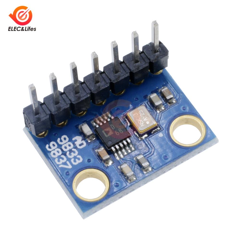 Низкая мощность AD9833 программируемые микропроцессоры серийный модуль DC 2,3 V-5,5 V Синусоидальная квадратная волна DDS модуль генератора сигналов