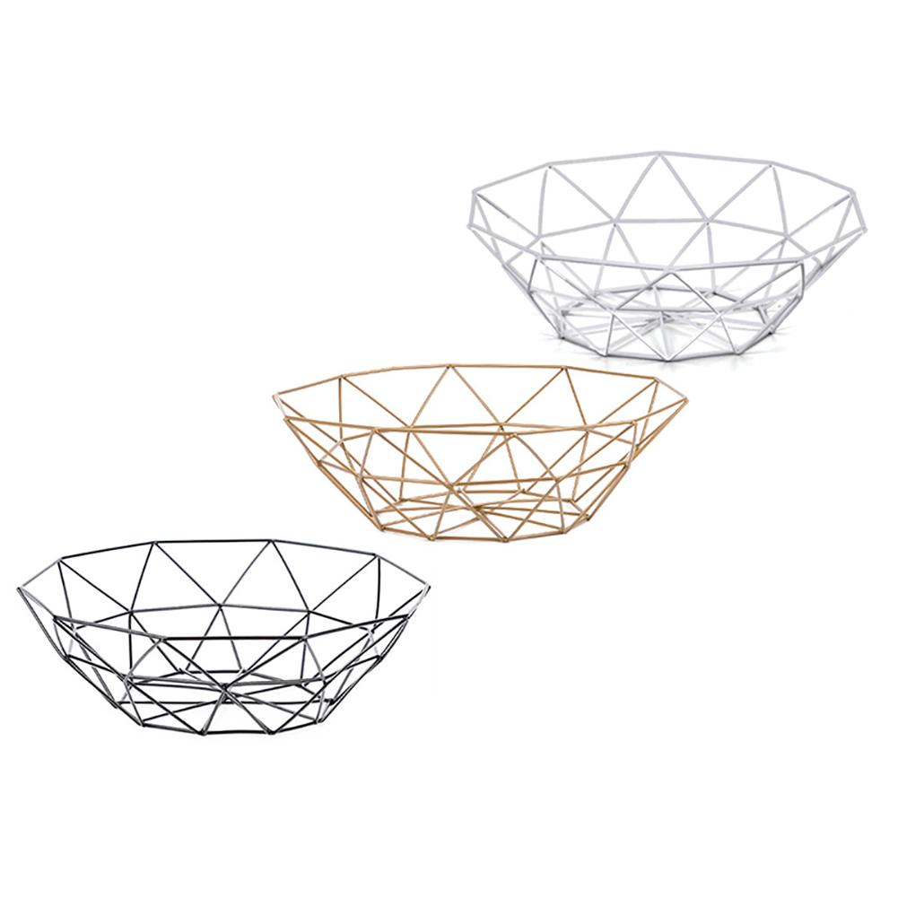 Cesta de fruta de Metal nórdica Ins, plato de fruta de hierro, productos de almacenamiento para el hogar, cesta para aperitivos, almacenamiento de suministros para el hogar, cesta Vertical