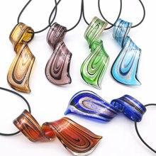 6 pièces mélange couleur torsadé verre au chalumeau Murano pendentifs collier CHIC