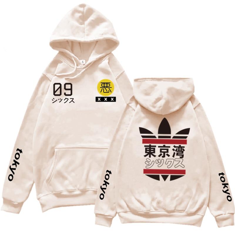 2020 Fashion Japanese New Tokyo Bay Men Women Hoodies Sweatshirts Autumn Winter Hip-Hop Harajuku Streetwear Boys Hoodies Outwear