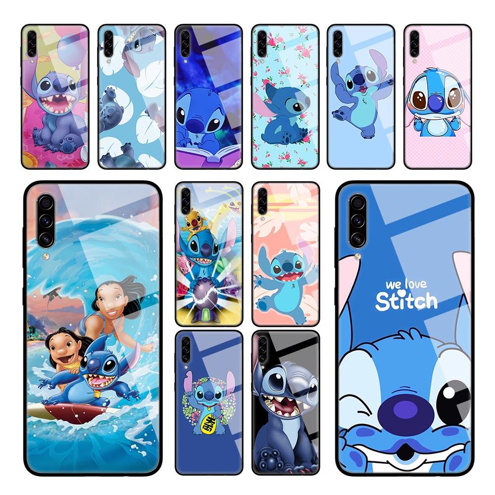 Lilo Stitch Cartoon Case for Samsung Galaxy A50 A51 A70 A71 A40 A30 A10 S M30S J4 J6 Plus Tempered Glass Sac Phone Cover