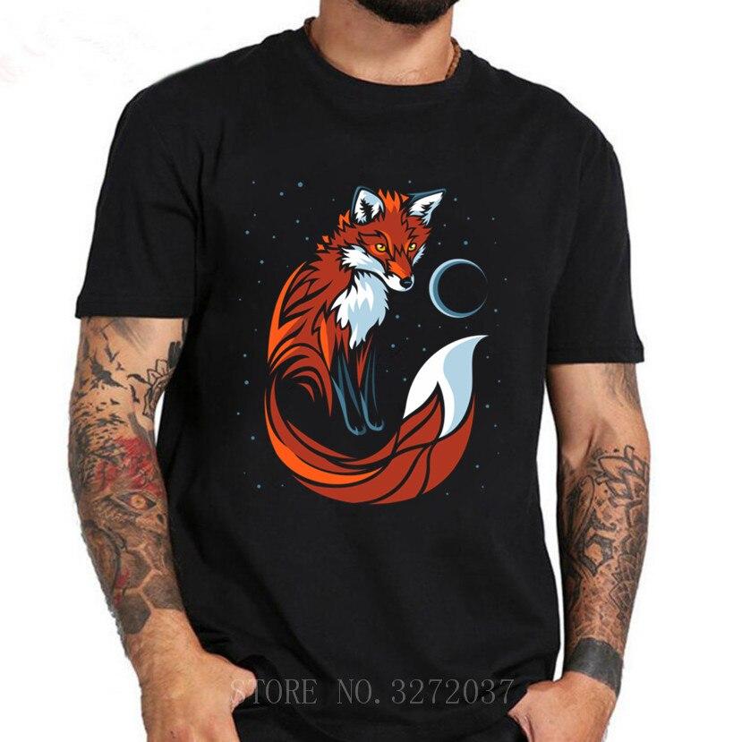Camiseta de verano 2019 Tribal Fox de cola larga de los hombres camiseta de ropa de cuello redondo Fitness de manga corta Camiseta de hombre Hip Hop T camisa