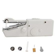 Mini Machine à coudre à la main point rapide coudre sans fil vêtements tissus couture Machine à coudre électronique Portable ménage