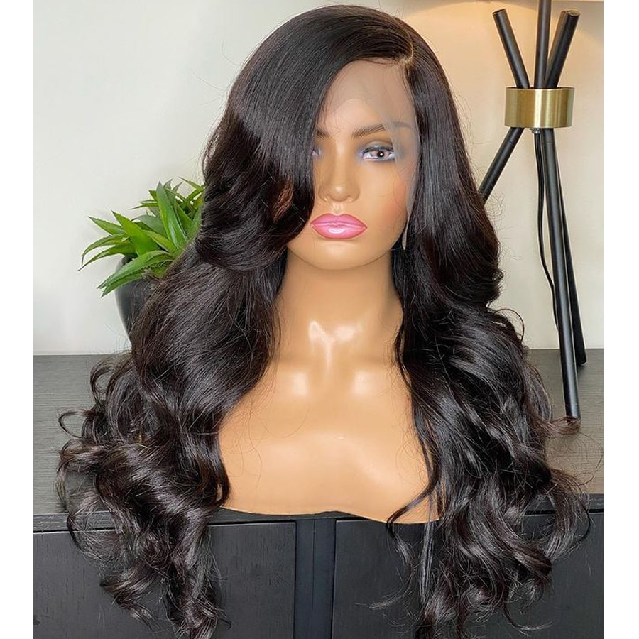 Glueless Body Wave 13x4 Lace Front Wigs with Baby Hair Natural Look Synthetic Frontal Lace Wigs for Women