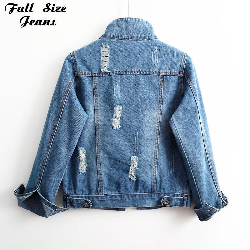 Mulheres plus size rasgado vintage azul casual basical denim jacket 3xl 5xl streetwear único peito magro denim casaco
