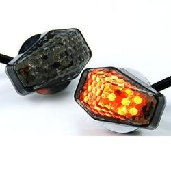 Sinal de seta para motocicleta, novo indicador de led com 15 âmbar iluminação universal luz de led para moto acessórios para motocicleta
