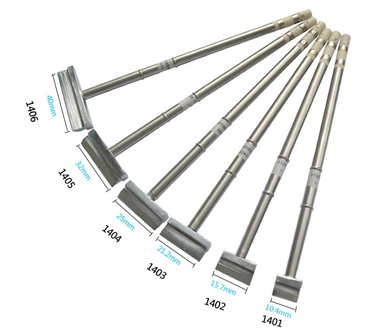 Gudhep T12 Welding Tips spade spatula type Soldering Iron Tips T12 1401 1402 1403 1404 1405 1406 for FX951 FM203 Soldering Iron
