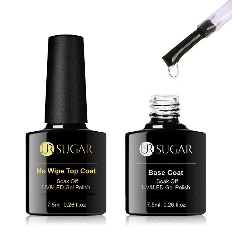 Azúcar UR 7,5 ml sin limpiar capa superior para Base esmalte de uñas de Gel de colores mate UV capa superior UV LED Soak Off Gel para decoración de uñas barniz