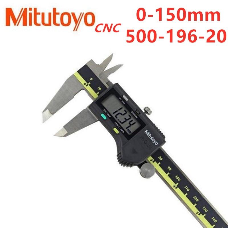 Mitutoyo CNC Digital pinza absoluta, 500-196-20 de acero inoxidable con batería pulgadas/métrico...