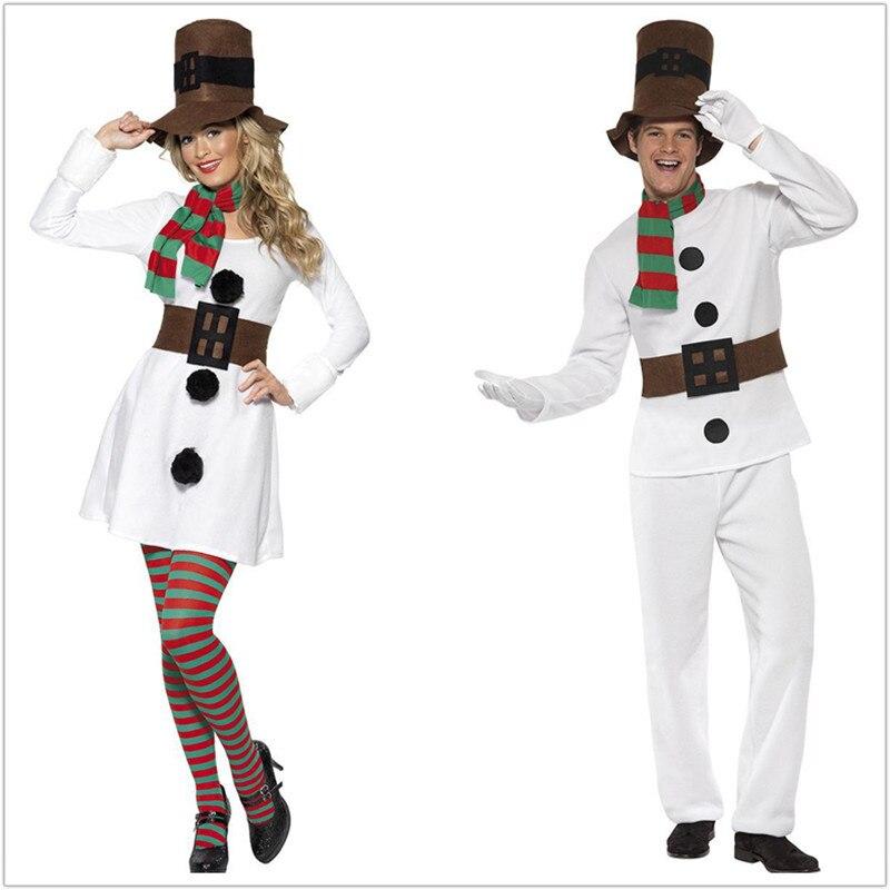Homens Sexy Neve do Inverno Da Menina Senhora Do Boneco de neve Traje Branco Adulto Trajes de Halloween Natal Cosplay Vestido de Festa Fantasia Vestido Feminino