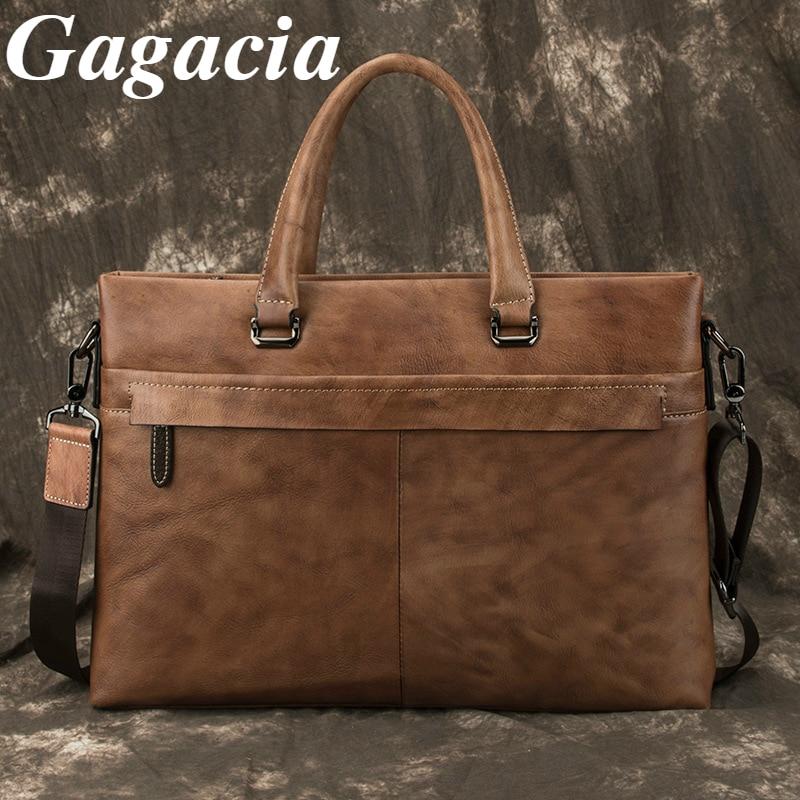 Gagacia Luxury Handbags For Men Genuine Leather Messenger Shoulder Bags New Vintage Totes Bag Casual Business Man's Briefcase