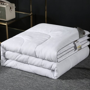 Small Jacquard Silk Mulberry Quilt Full Cotton Natural-filled Duvets Spring Autumn Naked Sleep Quilt Home Textile Bedding Gift