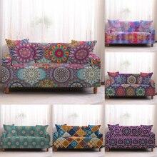Fundas sofá Bohemia fundas sofá patrón de Mandala fundas de sofá toalla muebles de sala de estar sofás de protección