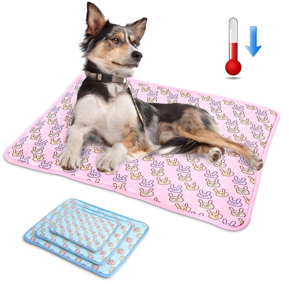 Tapete refrescante para cachorros, esteira de gelo para cães e gatos, cama refrescante para cães pequenos, médios e grandes m l